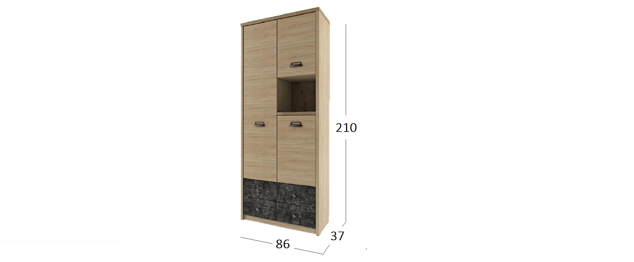 Шкаф комбинированный Дизель Модель 732