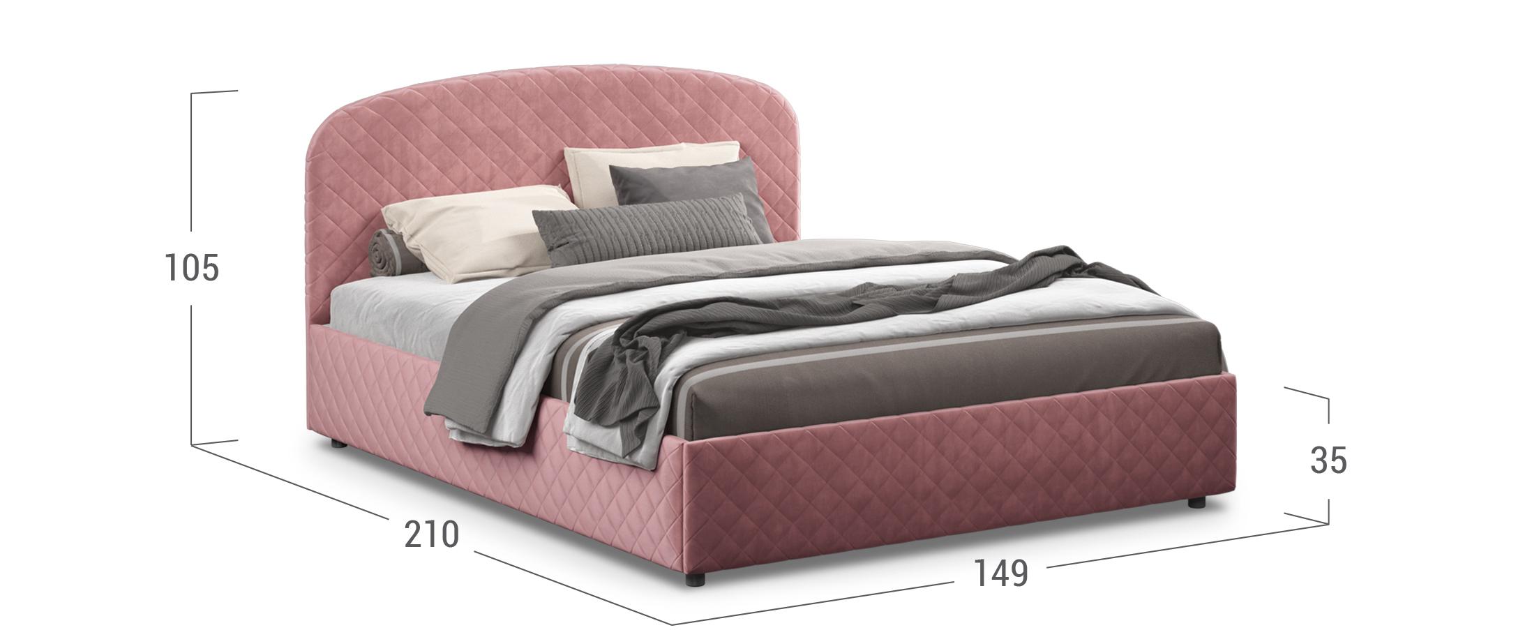 Кровать двуспальная Аллегра 140х200 Модель 1204