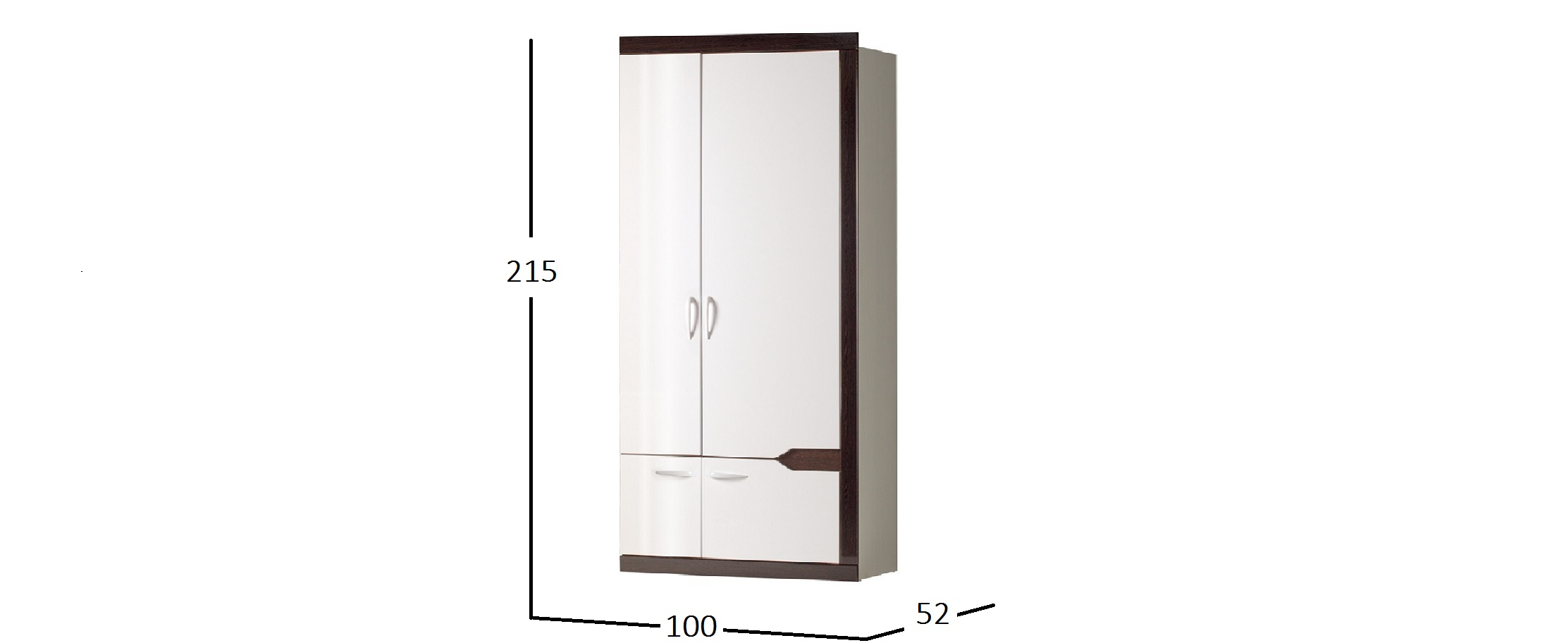 Шкаф 2-х дверный Ронда