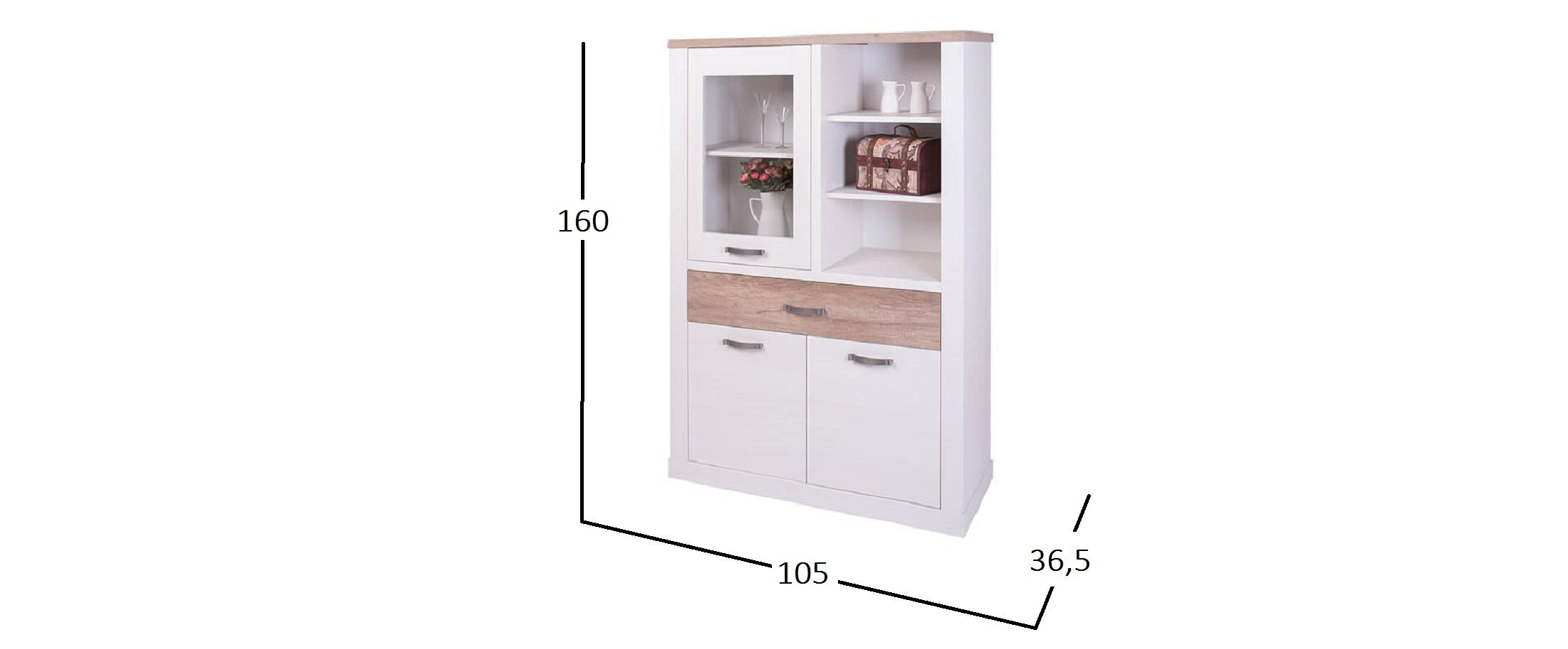 Шкаф-витрина Прованс Модель 733