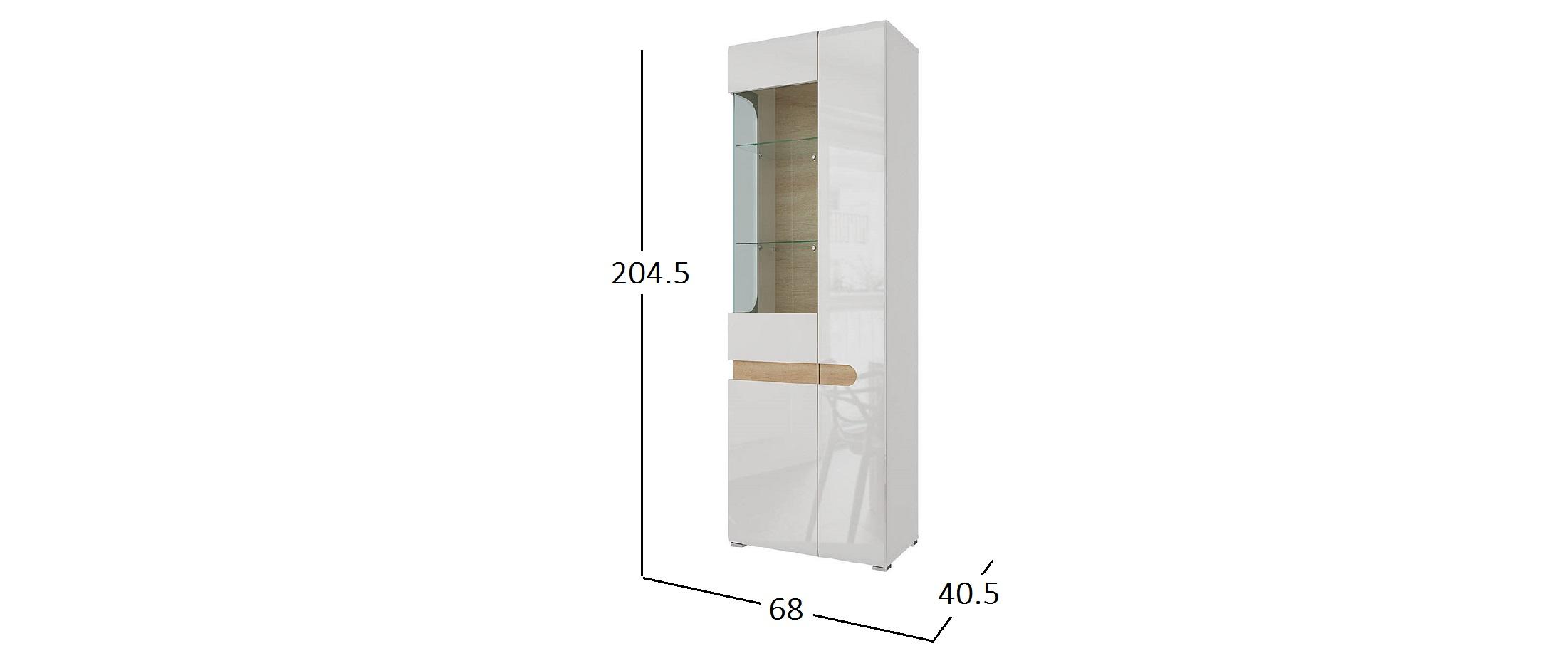 Шкаф-Витрина (Левый) Катания Модель 293