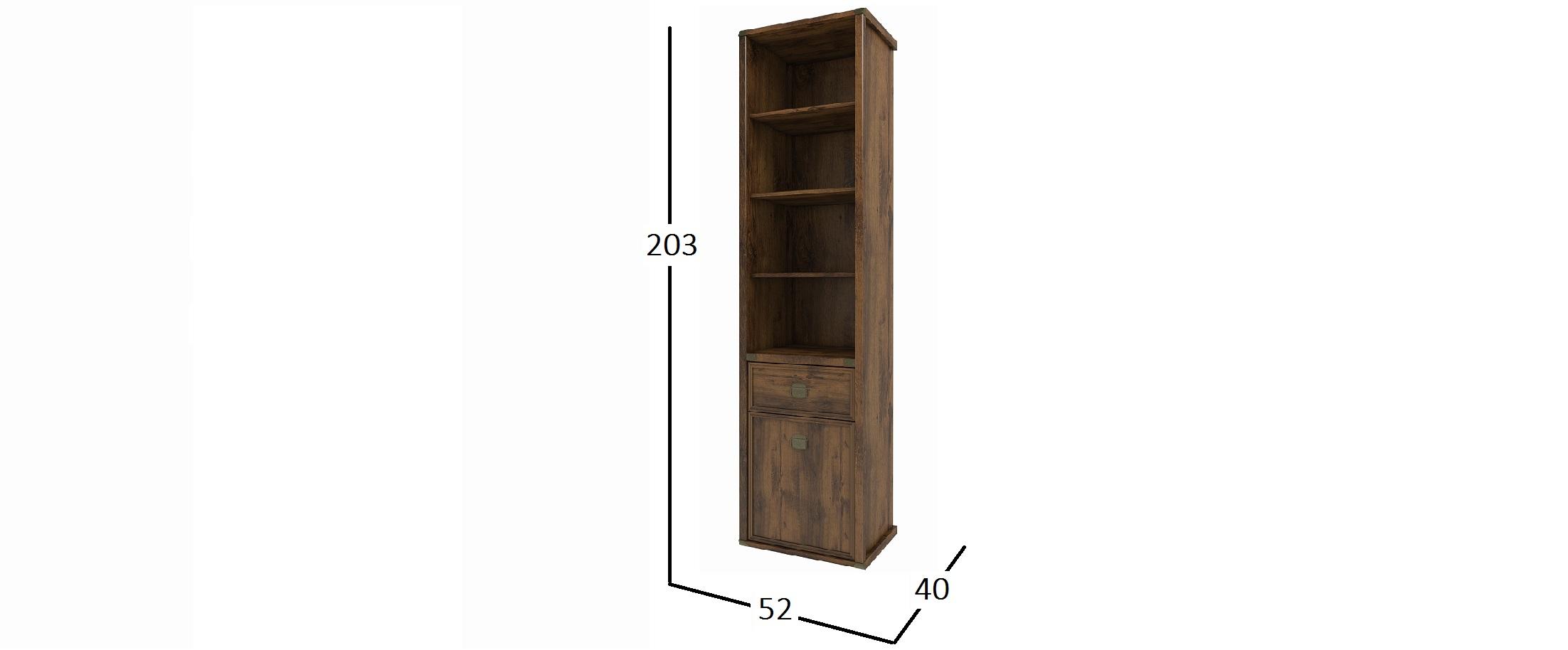 Шкаф стеллаж Магеллан Дуб Саттер Модель 734