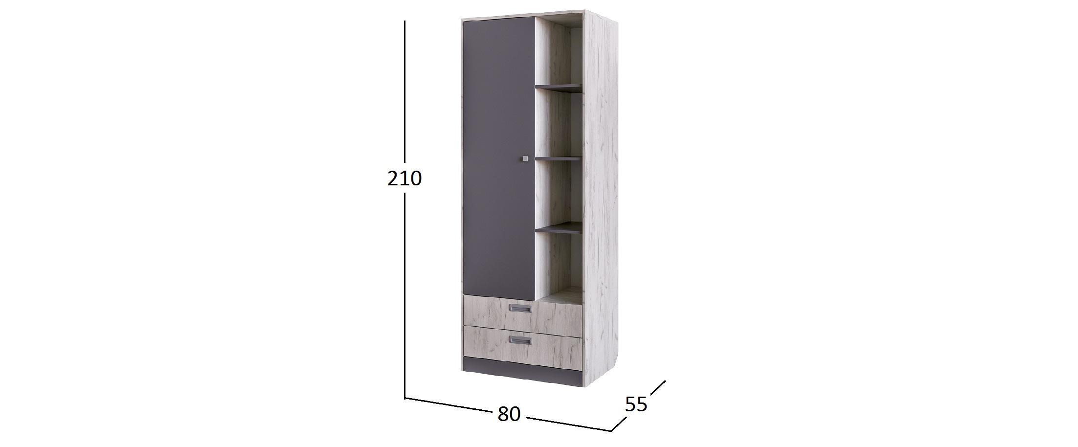 Шкаф для одежды с нишей Крафт Модель 502