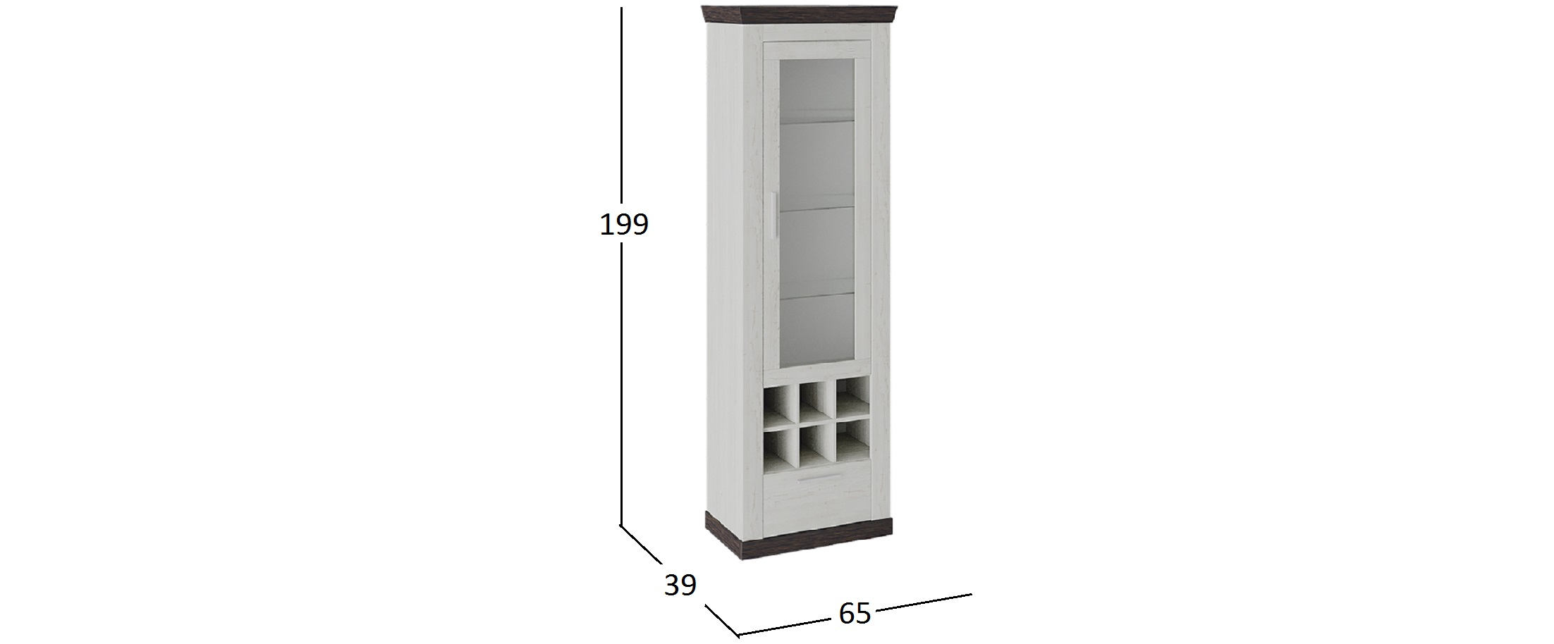 Шкаф Витрина Поланд Тип 1 Модель 941