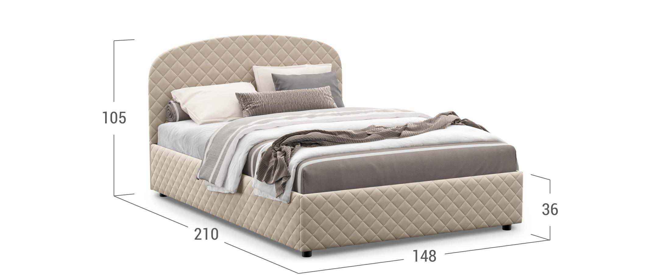 Кровать двуспальная Allegro New 140х200 Модель 1224