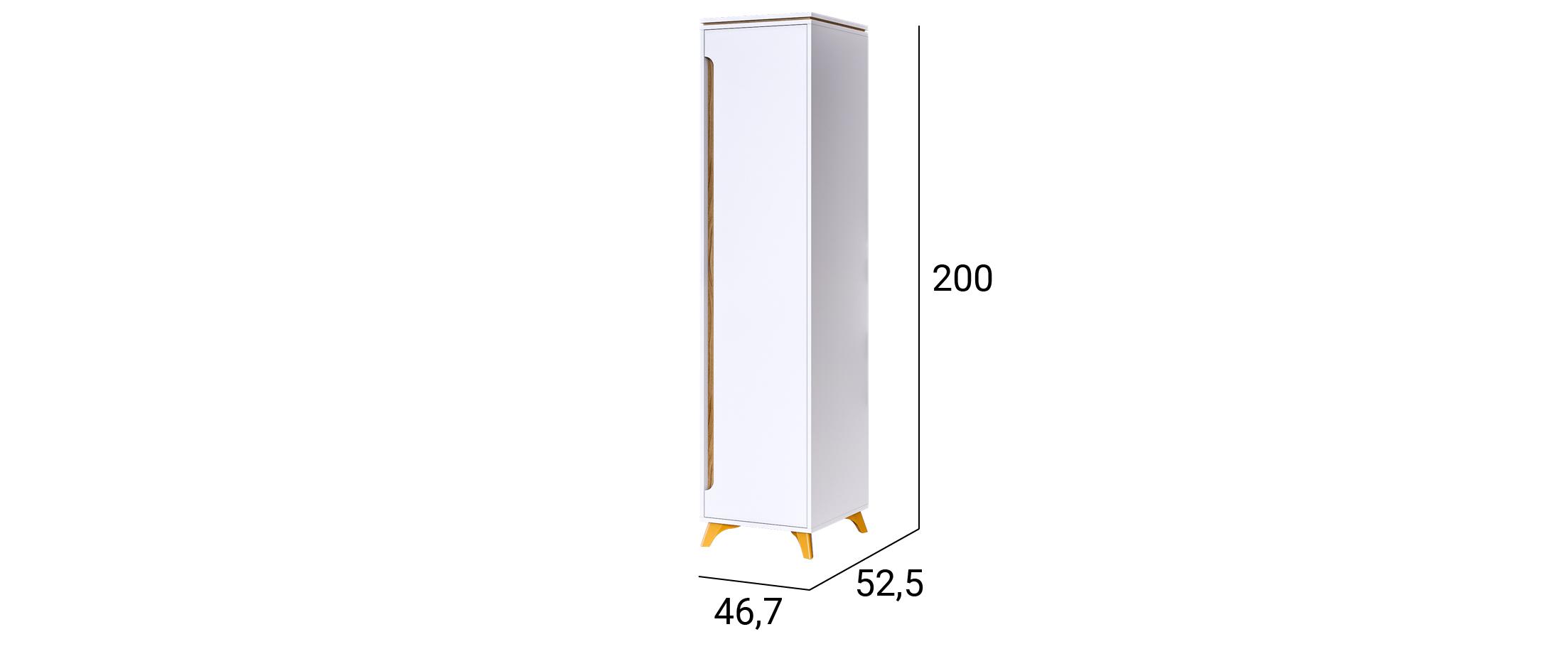Шкаф Сканди 1-дверный (Белый снег) Модель 520