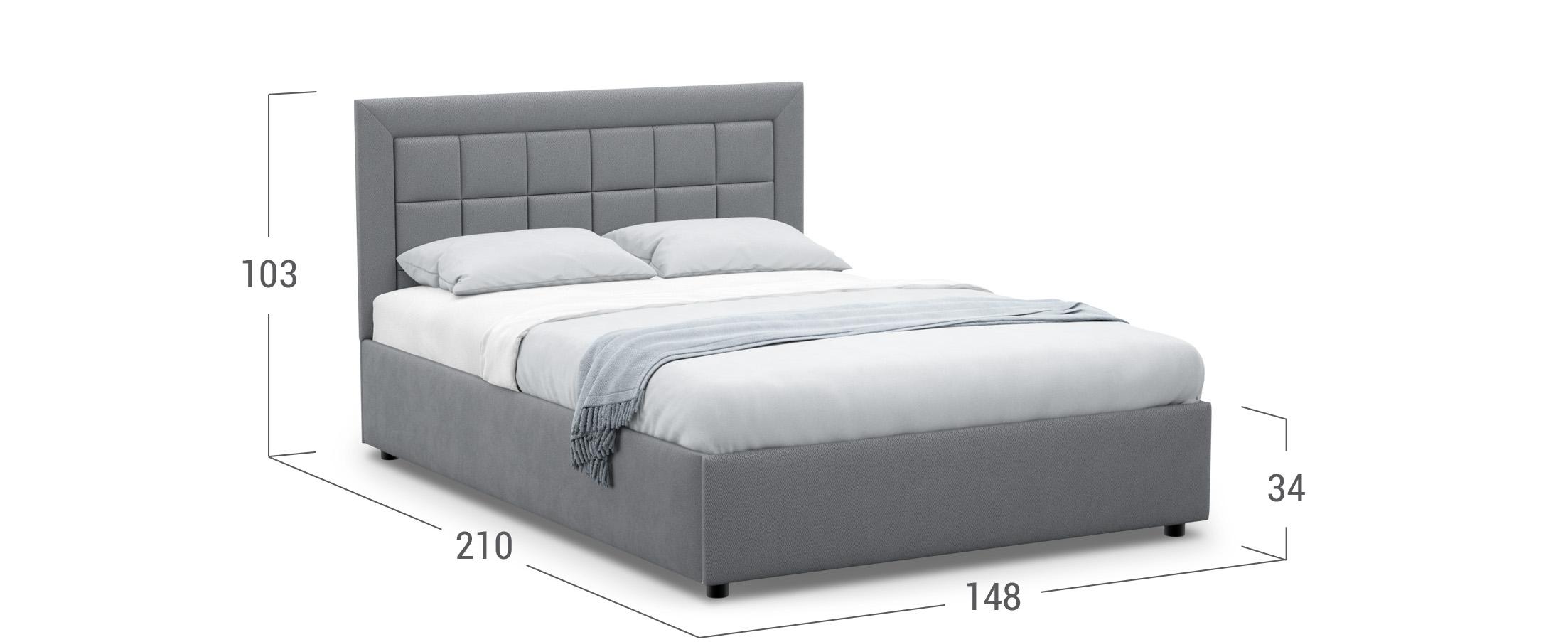 Кровать двуспальная Noemi New 140х200 Модель 1222