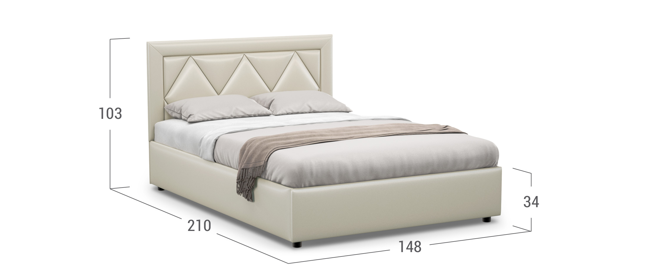 Кровать двуспальная Dominica New 140х200 Модель 1223
