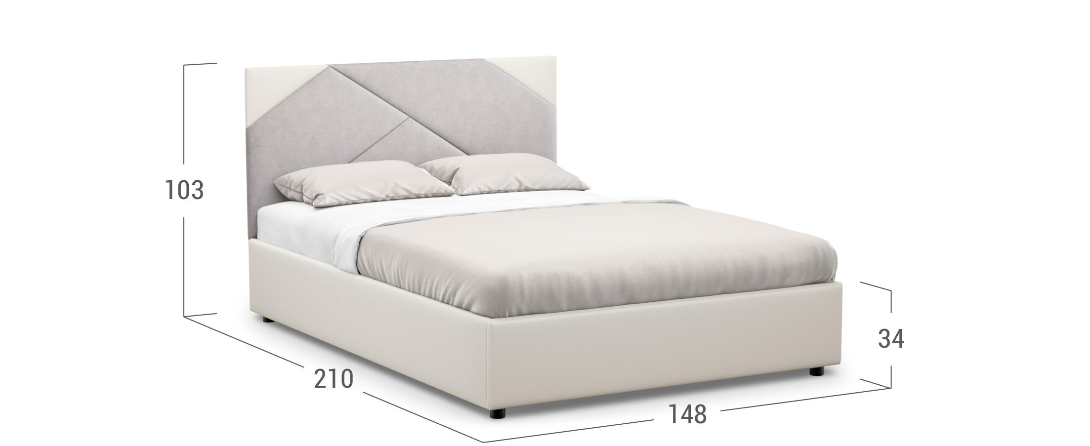 Кровать двуспальная Alba New 140х200 Модель 1226