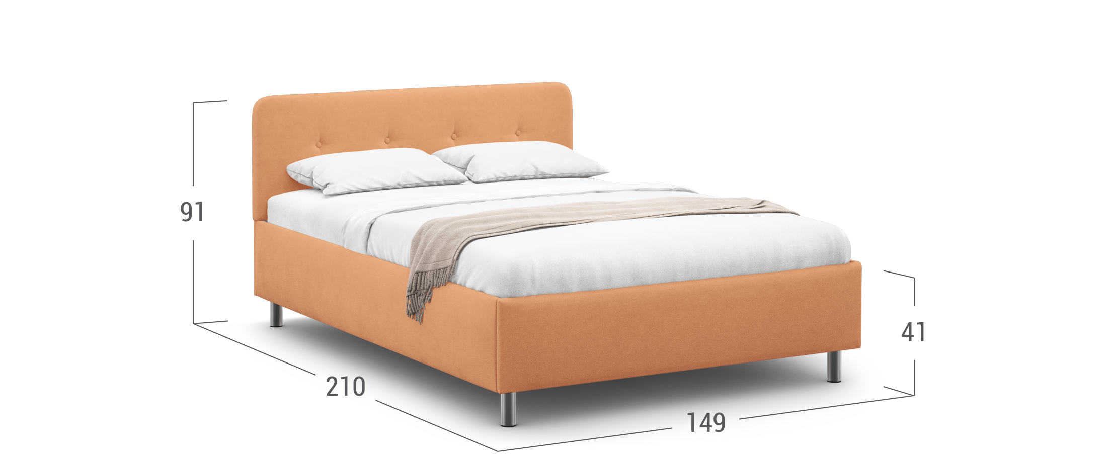 Кровать двуспальная MOON FAMILY 1232 140х200