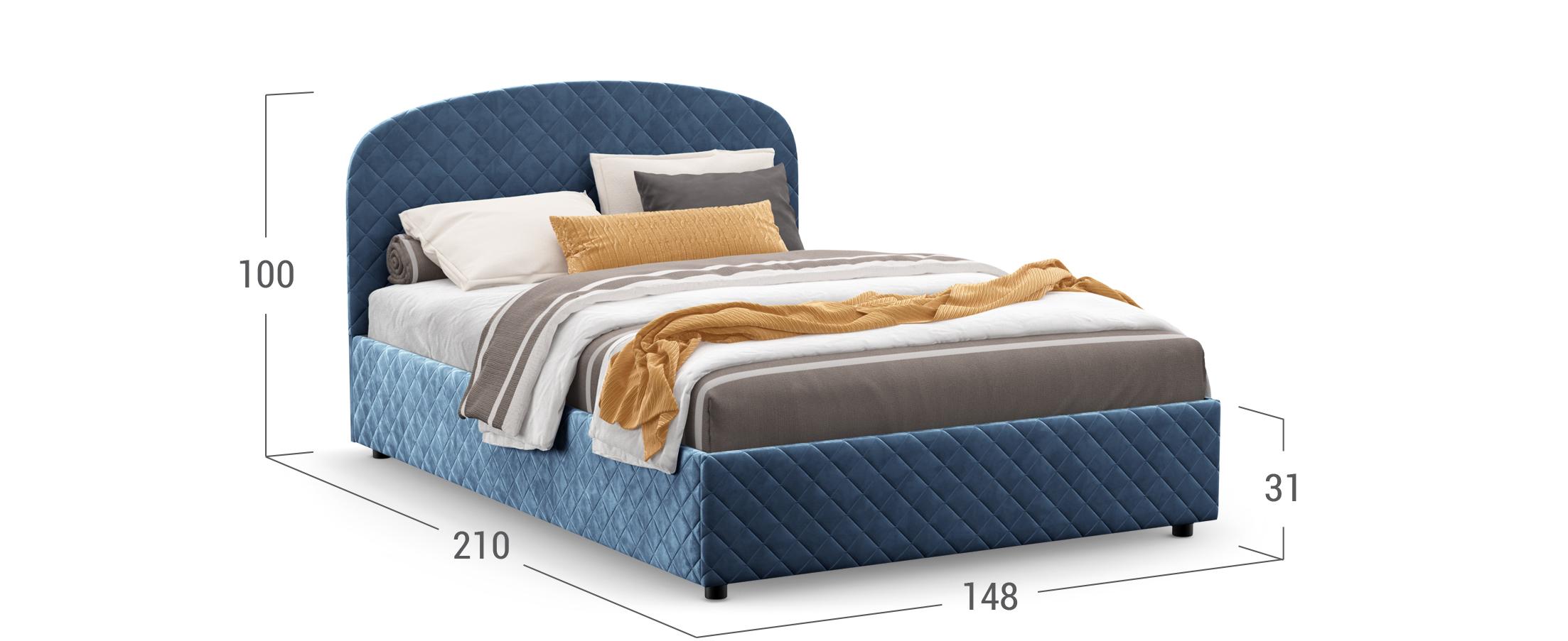 Кровать двуспальная Isolde 140х200 Модель 1224