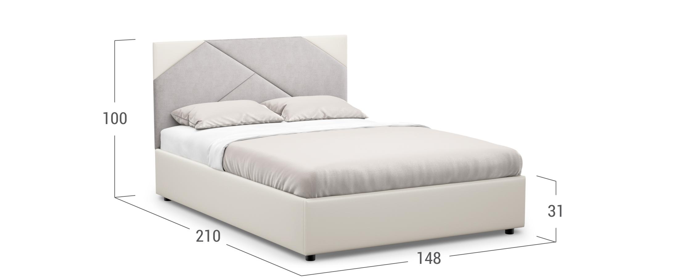 Кровать двуспальная MOON FAMILY 1226 140х200