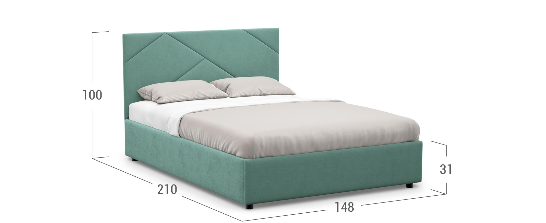 Кровать двуспальная Manisa 140х200 Модель 1226