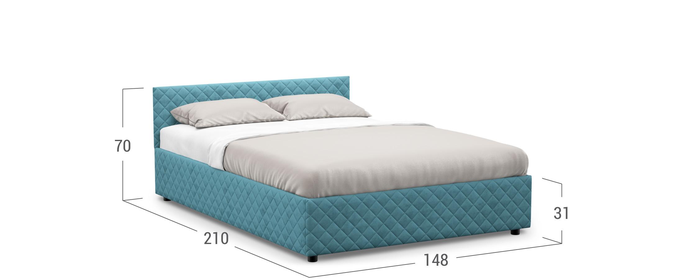 Кровать двуспальная MOON FAMILY 1221 140х200