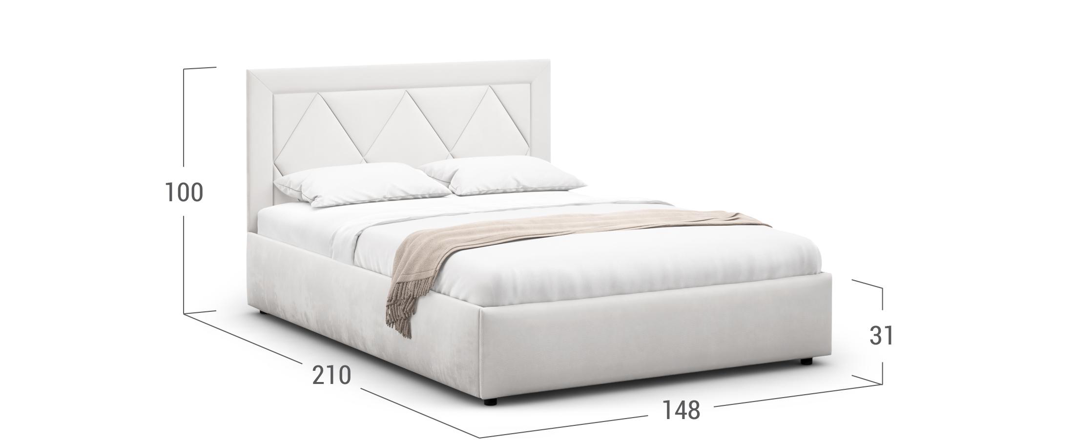 Кровать двуспальная MOON FAMILY 1223 140х200