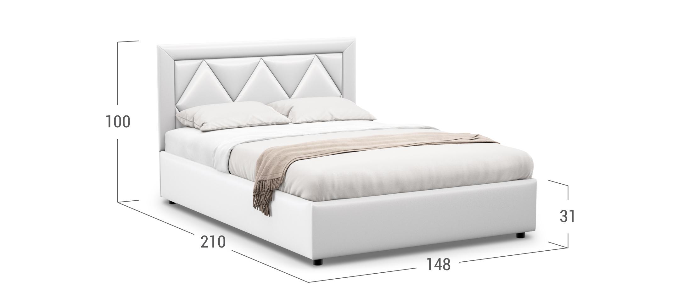 Кровать двуспальная Elaina 140х200 Модель 1223
