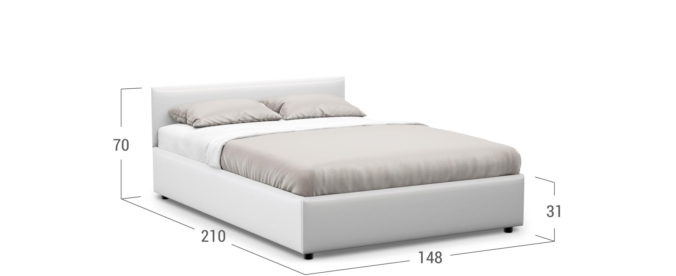 Кровать двуспальная MOON FAMILY 1220 140х200
