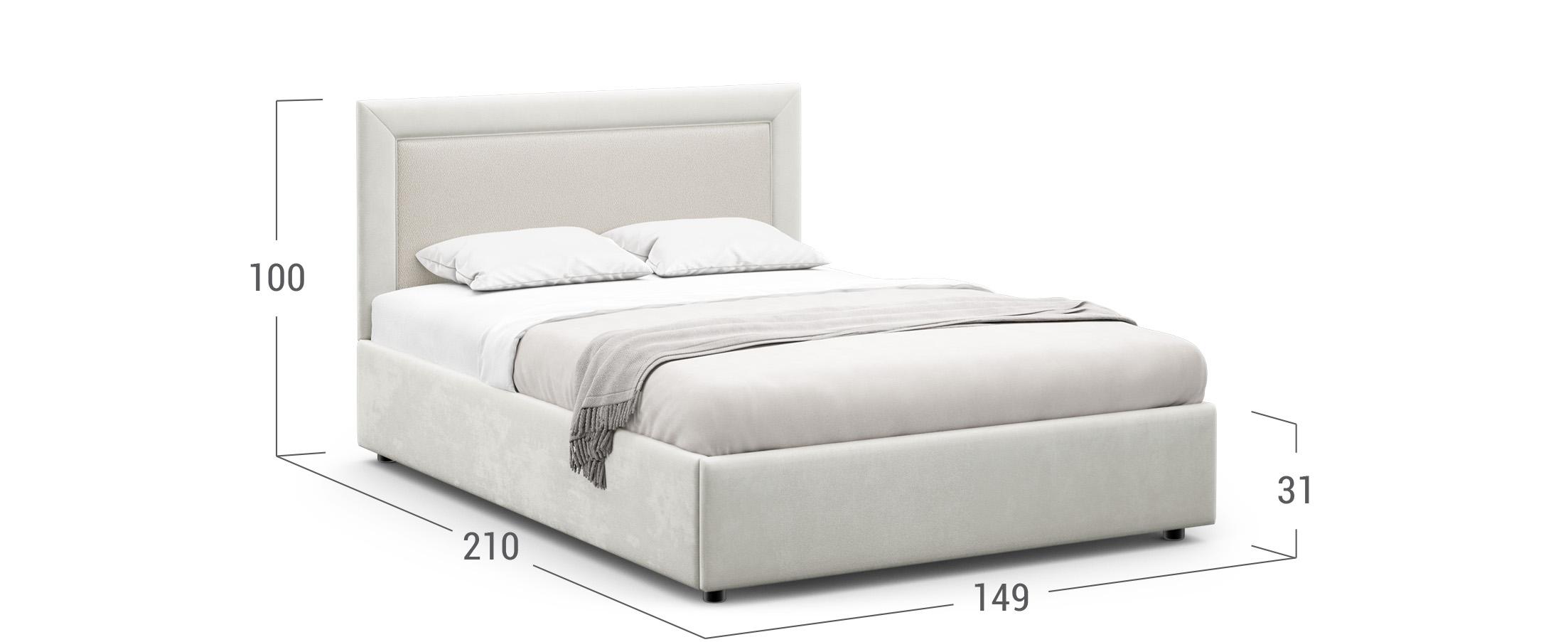 Кровать двуспальная Harley 140х200 Модель 1228
