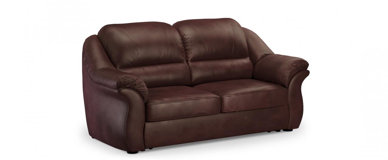 Диван прямой высоковыкатной Бостон 017Гостевой вариант и полноценное спальное место. Размеры 202х92х99 см. Купить коричневый диван высоковыкатной в интернет-магазине MOON TRADE.<br>