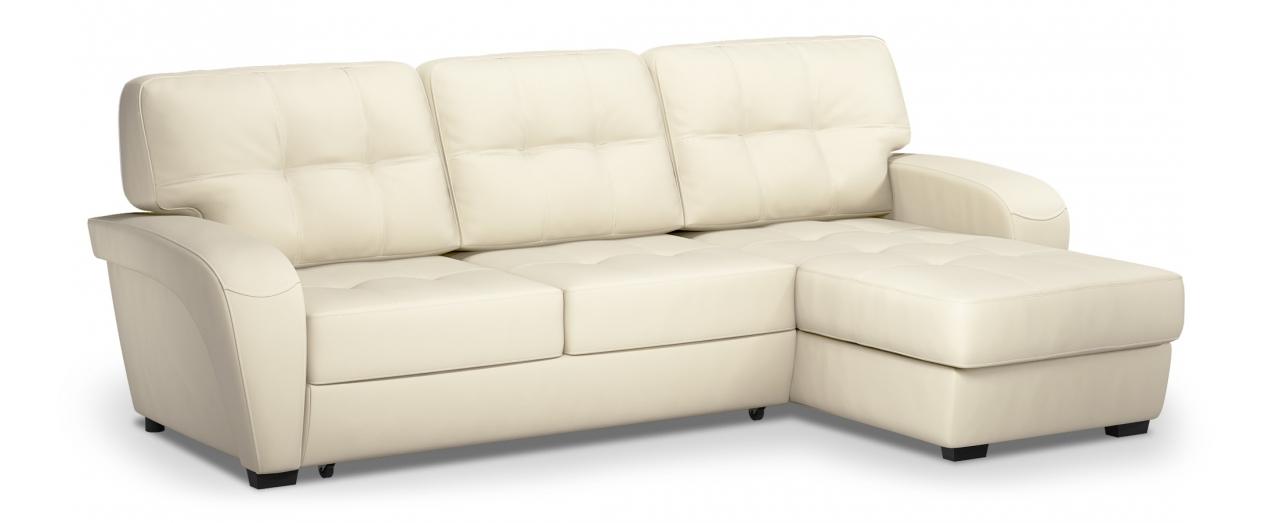 Диван угловой Честер 106Гостевой вариант и полноценное спальное место. Размеры 254х161х95 см. Купить белый диван дельфин с универсальным углом в интернет-магазине MOON TRADE.<br>