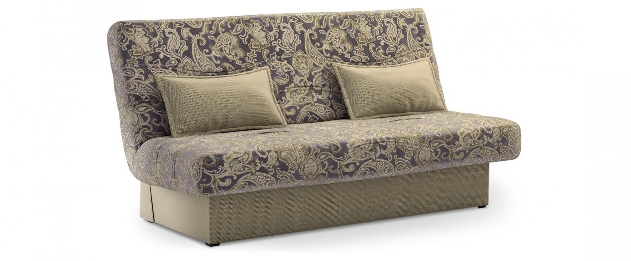 Диван прямой Модель 037 БаккараДиваны прямые<br>Гостевой вариант и полноценное спальное место. Размеры 200х108х105 см. Купить тёмно-бежевый диван клик-кляк в интернет-магазине MOON TRADE.<br>