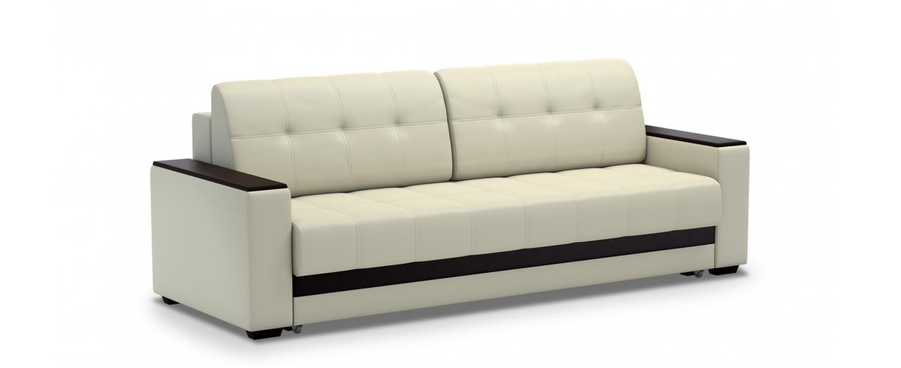 Диван прямой еврокнижка Атланта 066Гостевой вариант и полноценное спальное место. Размеры 241х93х86 см. Купить светло-бежевый диван еврокнижка в интернет-магазине MOON TRADE.<br>