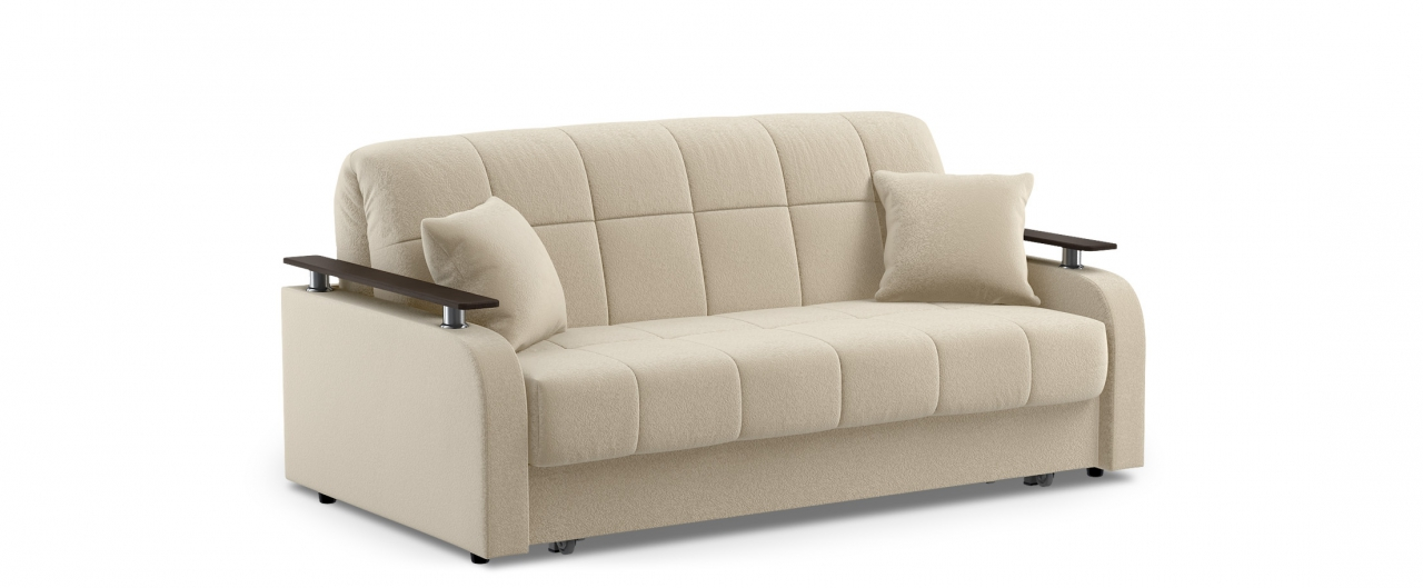 Диван прямой Модель 044Модель 044 бежевого цвета элегантно дополняет интерьер квартиры, частного дома или офиса, а при необходимости диван за несколько секунд превращается в широкую кровать.<br>