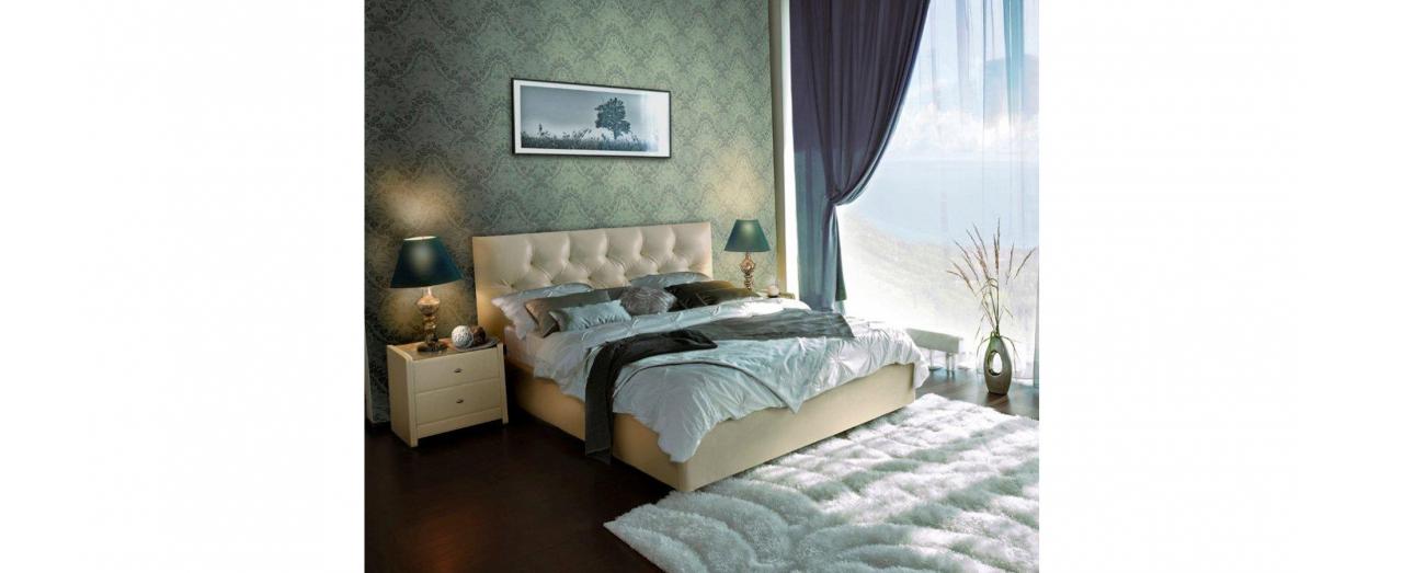 Двуспальная кровать MARLENA Модель 257Модель 257 арт. К000014 - кровать MARLENA (Марлена) без подъемного механизма. Кремовая двуспальная кровать выполнена из современных, надежных и экологичных материалов.<br>