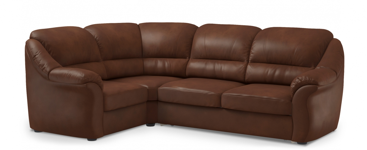 Диван угловой высоковыкатной Бостон 017Гостевой вариант и полноценное спальное место. Размеры 273х190х99 см. Купить красно-коричневый диван высоковыкатной с левым углом в интернет-магазине MOON-TRADE.RU.<br>