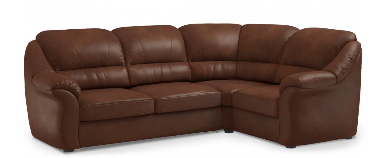 Диван угловой высоковыкатной Бостон 017Гостевой вариант и полноценное спальное место. Размеры 273х190х99 см. Купить красно-коричневый диван высоковыкатной с правым углом в интернет-магазине MOON TRADE.<br>