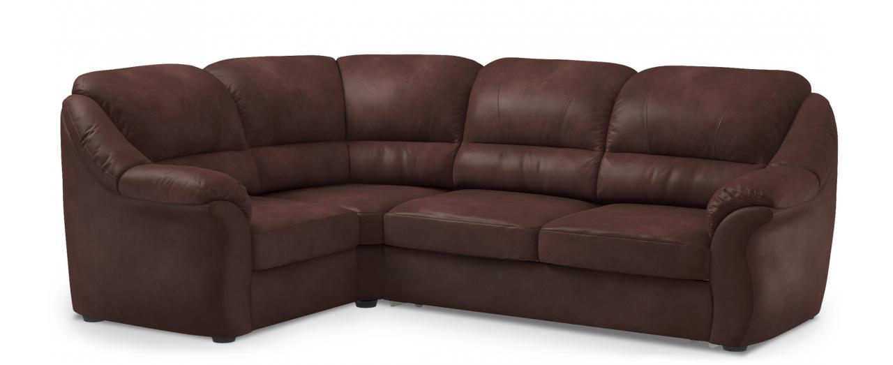 Диван угловой высоковыкатной Бостон 017Гостевой вариант и полноценное спальное место. Размеры 273х190х99 см. Купить коричневый диван высоковыкатной с левым углом в интернет-магазине MOON TRADE.<br>