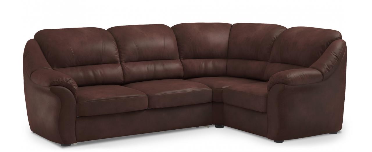 Диван угловой высоковыкатной Бостон 017Гостевой вариант и полноценное спальное место. Размеры 273х190х99 см. Купить коричневый диван высоковыкатной с правым углом в интернет-магазине MOON TRADE.<br>