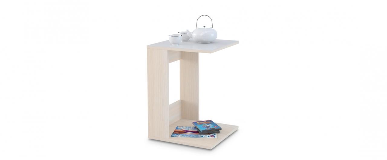 Журнальный стол Mayer 1 Модель 340Столешница из закалённого стекла выдерживает нагрузки до 45 кг. Не боится горячего, бытовой химии и не выгорает. Доставка от 1 дня. Купить в интернет-магазине MOON TRADE.<br>