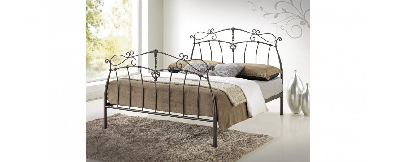 Кровать двуспальная двуспальная чёрная Garda 9 Модель 355