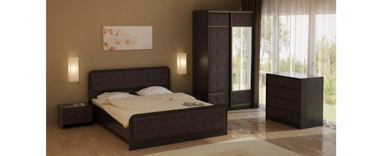 Кровать двуспальная коричневая Неро Модель 358 от MOON TRADE