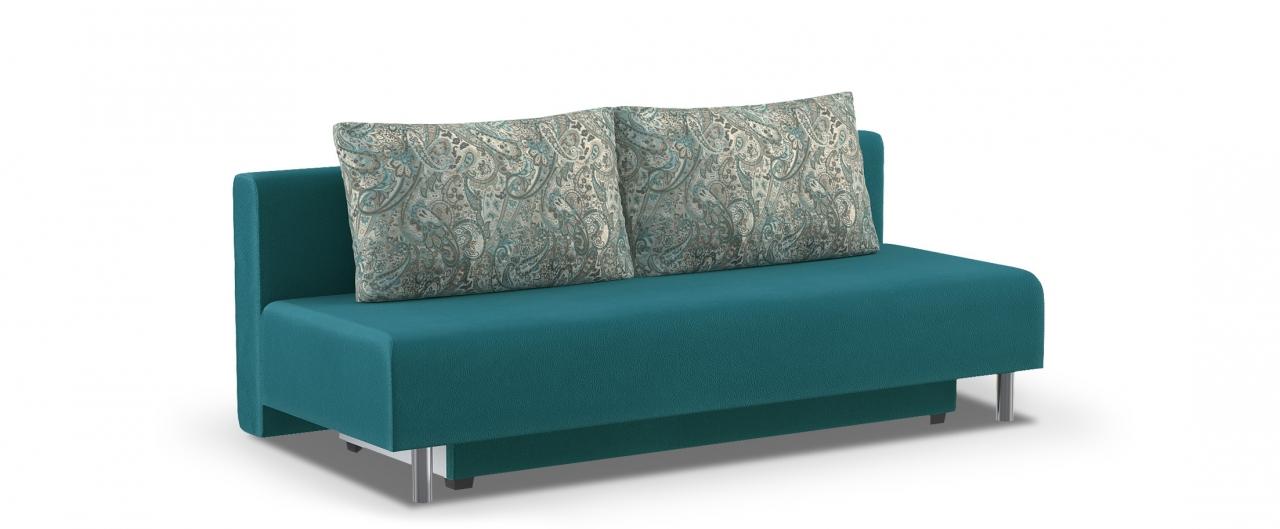Диван прямой еврокнижка Парма 049Гостевой вариант и полноценное спальное место. Размеры 205х88х87 см. Купить зеленый диван еврокнижка в интернет-магазине MOON TRADE.<br>