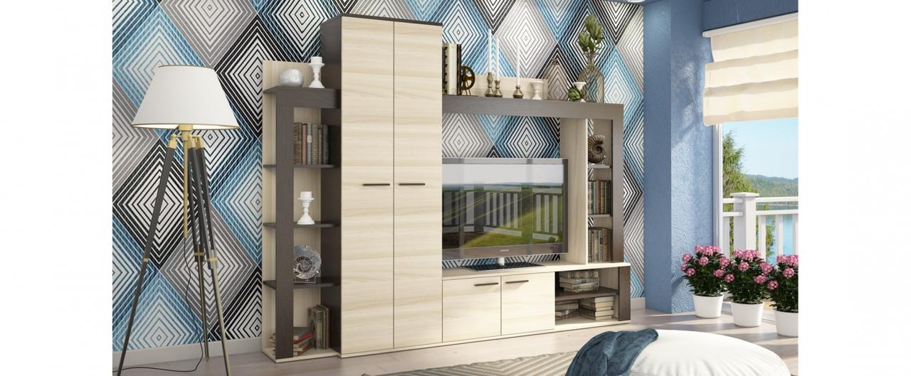 Гостиная Осло практичная Модель 294Купить практичную гостиную в интернет-магазине MOON TRADE. Размеры 231х37х184 см. Быстрая доставка, вынос упаковки, гарантия! Выгодная покупка!<br>