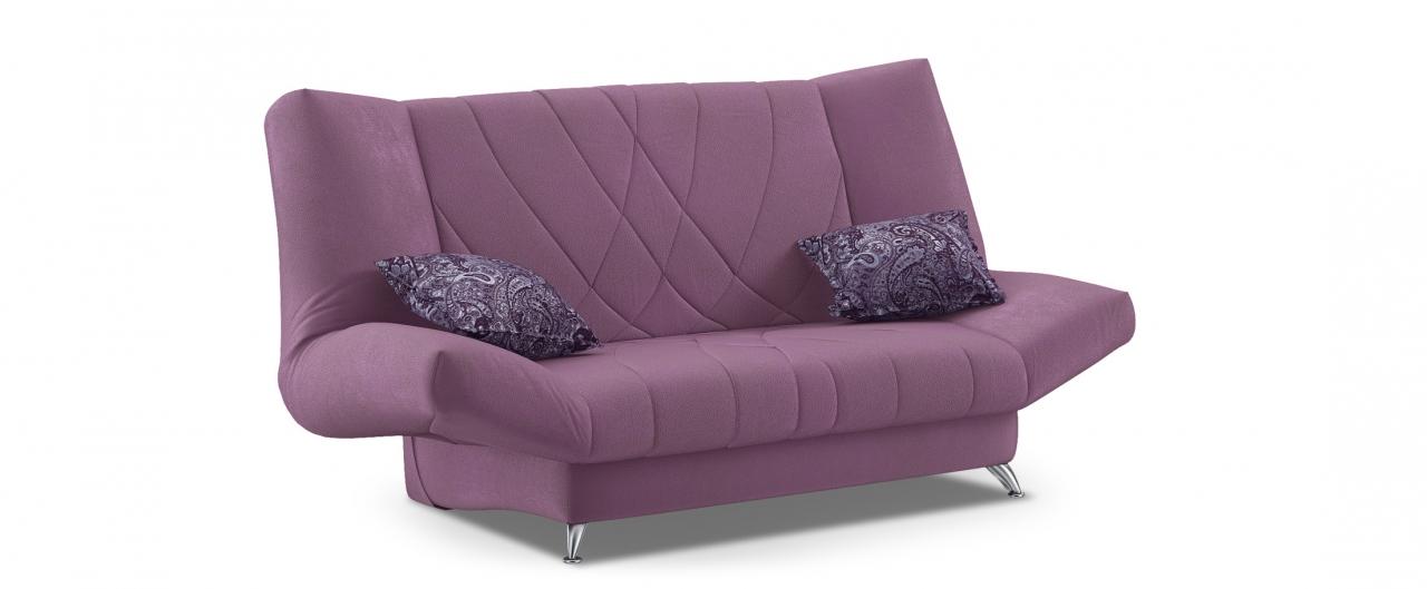 Диван прямой Санта Next 036Диваны прямые<br>Гостевой вариант и полноценное спальное место. Размеры 192х101х108 см. Купить фиолетовый диван клик-кляк в интернет-магазине MOON TRADE.<br>