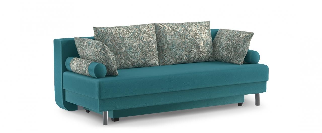 Диван прямой еврокнижка Палермо 020Гостевой вариант и полноценное спальное место. Размеры 205х90х87 см. Купить зеленый диван еврокнижка в интернет-магазине MOON TRADE.<br>