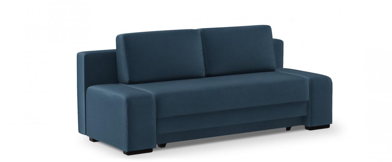 Диван прямой еврокнижка Токио 009Гостевой вариант и полноценное спальное место. Размеры 205х93х89 см. Купить синий диван еврокнижка в интернет-магазине MOON TRADE.<br>