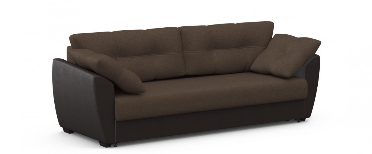 Диван прямой Модель 051 АмстердамДиваны прямые<br>Гостевой вариант и полноценное спальное место. Размеры 241х93х87 см. Купить коричневый диван еврокнижка в интернет-магазине MOON TRADE.<br>