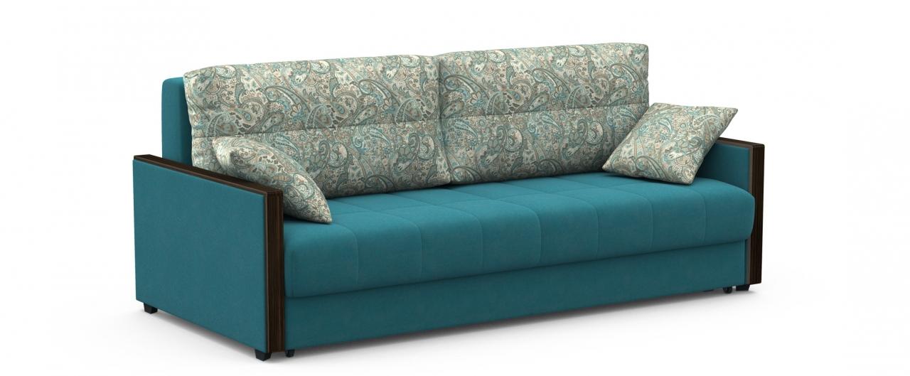Диван прямой еврокнижка Мадрид 093Гостевой вариант и полноценное спальное место. Размеры 217х108х95 см. Купить зеленый диван еврокнижка в интернет-магазине MOON TRADE.<br>