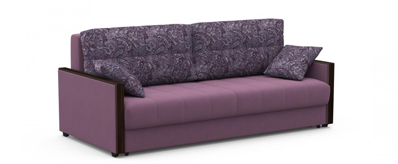 Диван прямой еврокнижка Мадрид 093Гостевой вариант и полноценное спальное место. Размеры 217х108х95 см. Купить тёмно-фиолетовый диван еврокнижка в интернет-магазине MOON TRADE.<br>