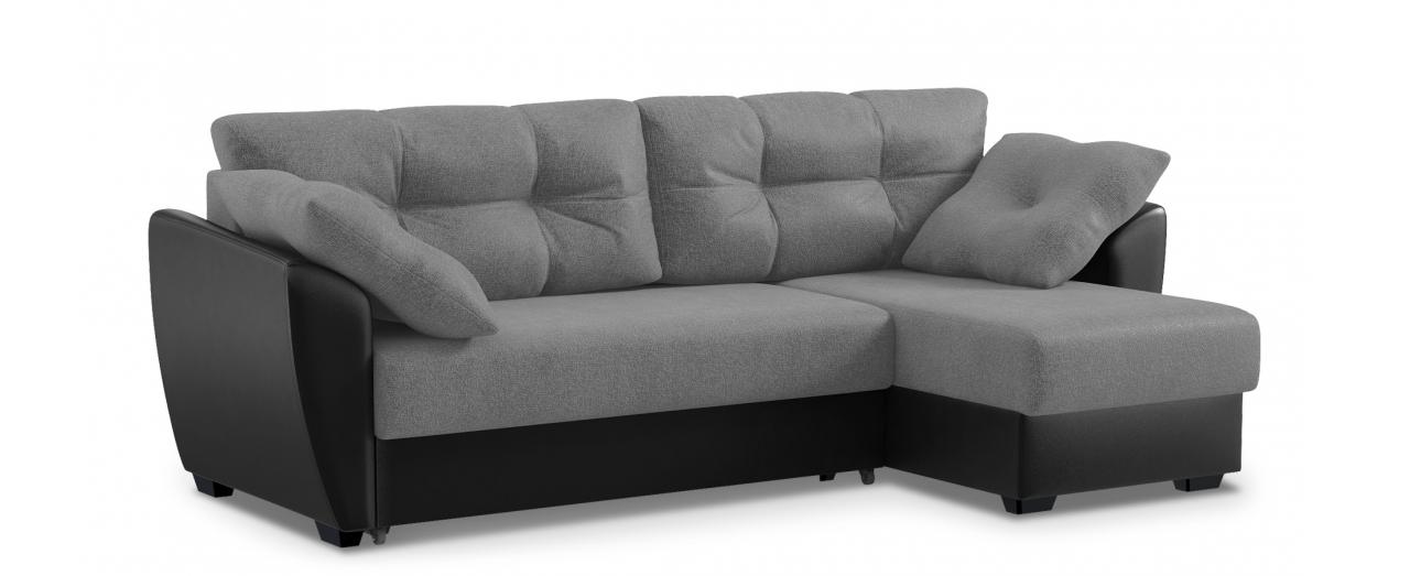 Диван угловой еврокнижка Амстердам 051Гостевой вариант и полноценное спальное место. Размеры 243х143х87 см. Купить серый диван еврокнижка с универсальным углом в интернет-магазине MOON TRADE.<br>