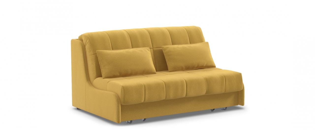 Диван прямой Прага 105Гостевой вариант и полноценное спальное место. Размеры 160х108х90 см. Купить желтый диван аккордеон в интернет-магазине MOON TRADE.<br>
