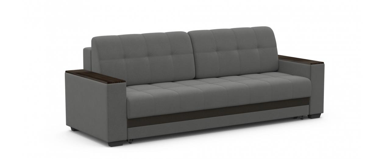 Диван прямой еврокнижка Атланта 066Гостевой вариант и полноценное спальное место. Размеры 241х93х86 см. Купить серый диван еврокнижка в интернет-магазине MOON TRADE.<br>