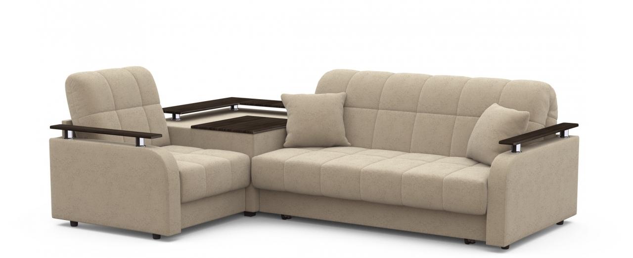 Диван угловой аккордеон Карина 044Гостевой вариант и полноценное спальное место. Размеры 250х179х88 см. Купить бежевый диван аккордеон с левым углом в интернет-магазине MOON TRADE.<br>