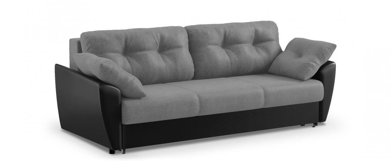 Диван прямой еврокнижка Амстердам 051Гостевой вариант и полноценное спальное место. Размеры 241х108х94 см. Купить серый диван еврокнижка в интернет-магазине MOON TRADE.<br>