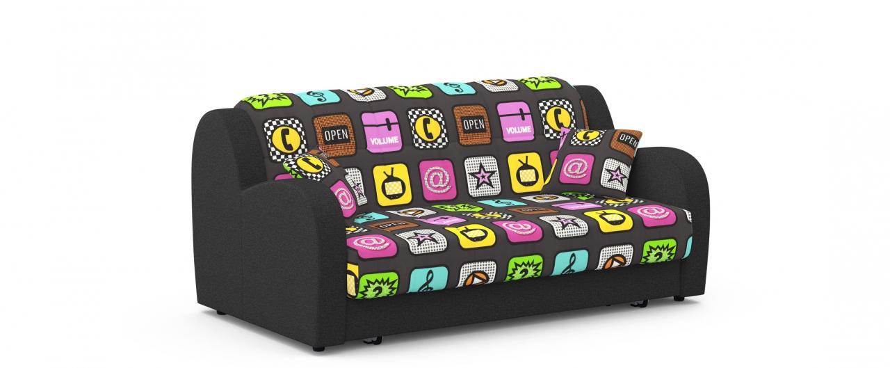 Диван прямой аккордеон Барон 022Диваны прямые<br>Гостевой вариант и полноценное спальное место. Размеры 173х104х88 см. Купить тёмно-разноцветный диван аккордеон в интернет-магазине MOON TRADE.<br>