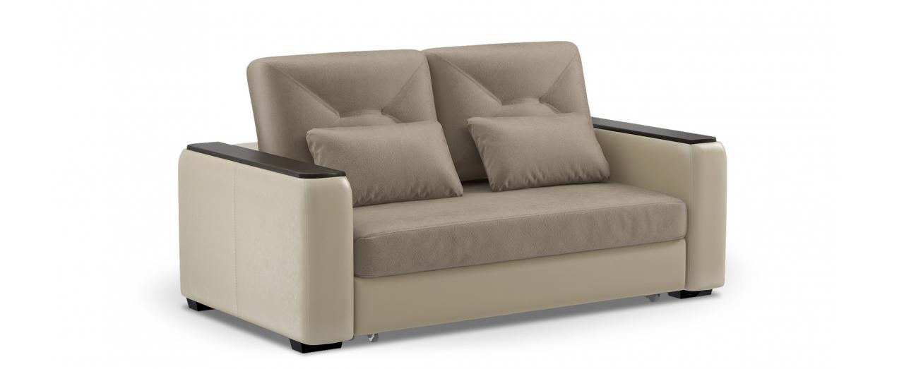 Диван прямой высоковыкатной Брюссель 082Гостевой вариант и полноценное спальное место. Размеры 184х110х93 см. Купить бежевый диван высоковыкатной в интернет-магазине MOON TRADE.<br>
